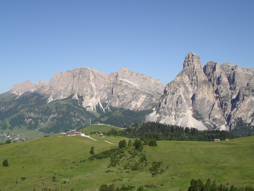 The Dolomites are located in northeastern Italy